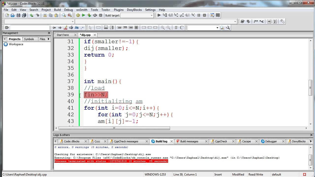 dijkstra's shortest path algorithm source code development in c++