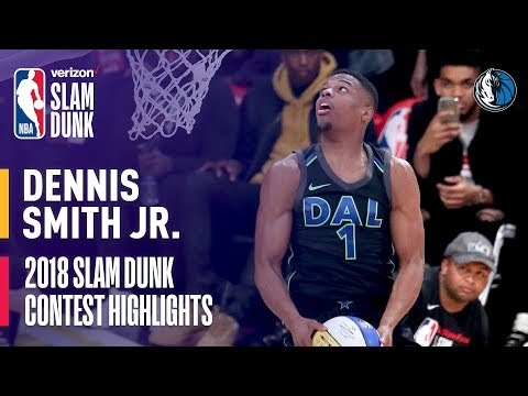 Dennis Smith, Jr. ALL DUNKS from 2018 Verizon Slam Dunk Contest