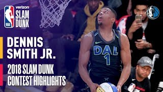 Dennis Smith, Jr. ALL DUNKS from 2018 Verizon Slam Dunk Contest Video