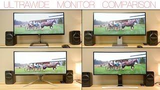 4 ultrawide monitors compared lg dell acer samsung 3440x1440p