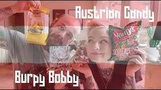 Silly Swedes Try Austrian Candy - Burpy Bobby 🤑