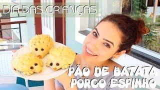 PÃO DE BATATA PORCO ESPINHO - especial dia das crianças - Paula Stephânia