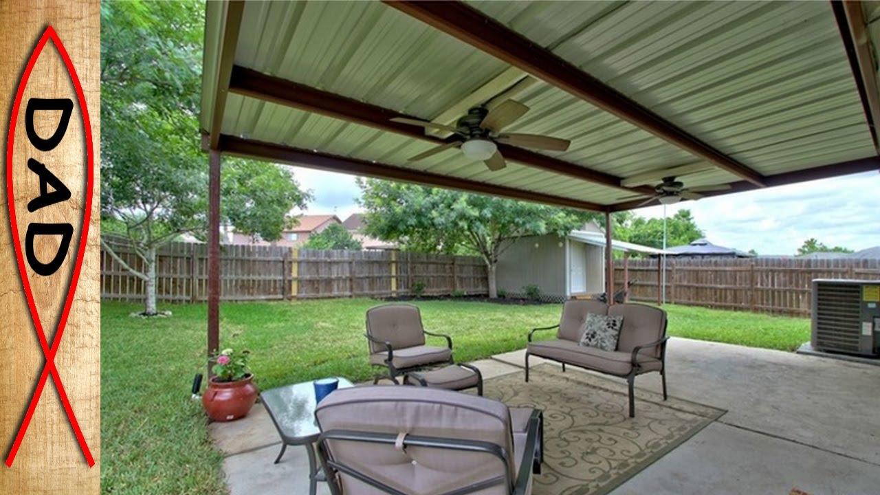 patio cover 20x12 metal no wood