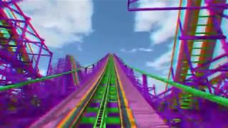 3D Стерео відео.3D Rollercoaster Ultraviolet 3D