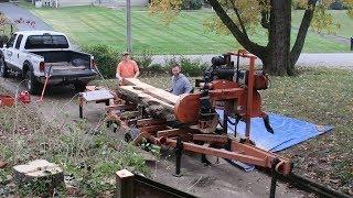 Cutting Slabs from Magnolia tree - Wood-Mizer goes Urban!