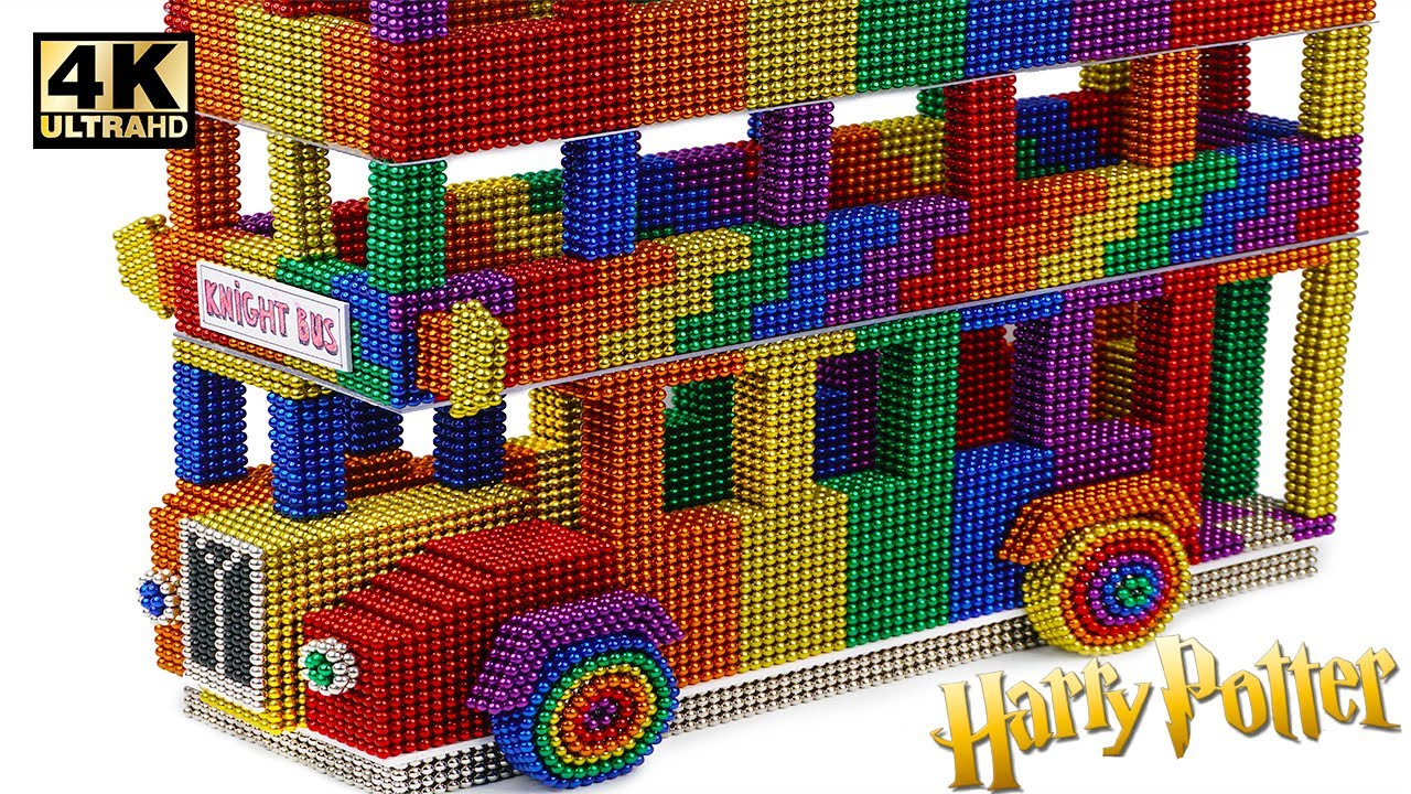 Download Most Creative - Make Harry Potter Knight Bus From Magnetic Balls (Satisfying) | Magnet World Series