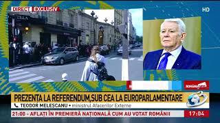 ALEGERI EUROPARLAMENTARE 2019. Ministrul de Externe, Teodor Melescanu, despre scandalul di ...