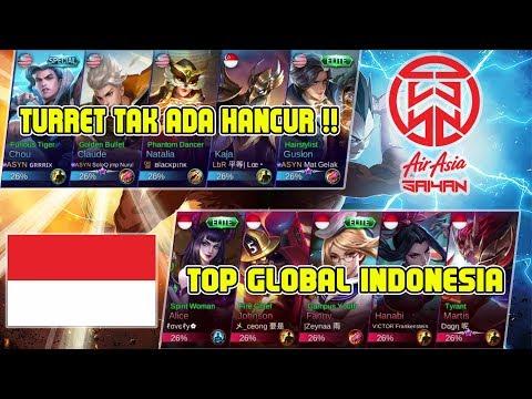Turret ASYN tak ada Hancur !!! AirAsia Saiyan vs Top Global Indonesia - Mobile Legends