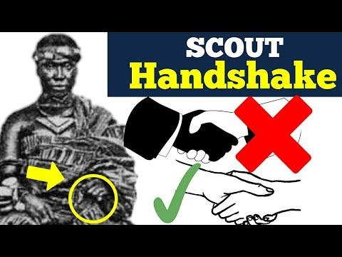 Importance, Meaning,Explanation of Left Handshake BRIGHT SIDE Scout  Handshake स्काउट हैंडशेक