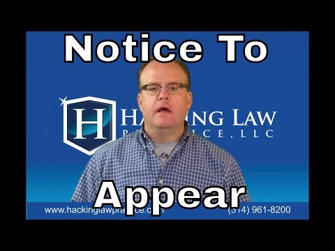 St. Louis Immigration Attorney Jim Hacking Explains the Notice to Appear