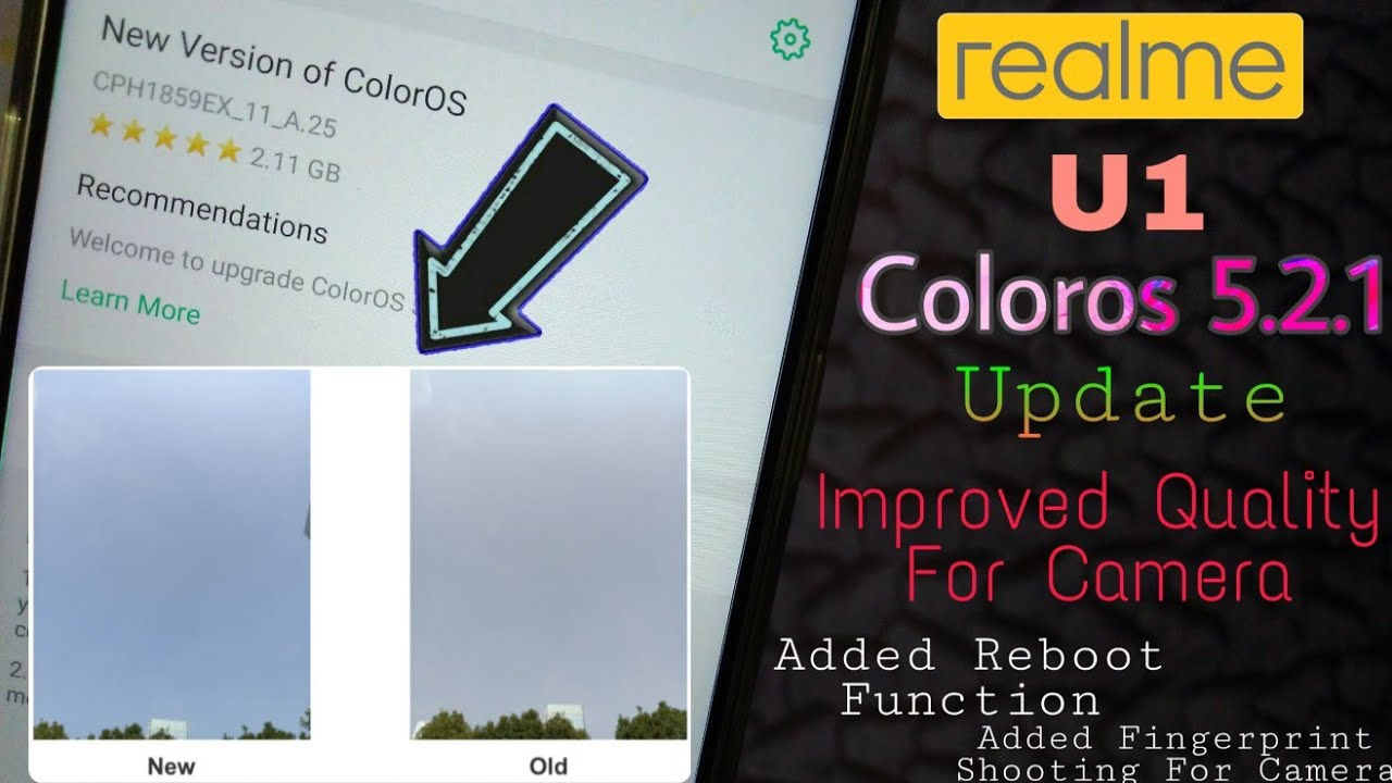 Realme U1 Latest January ColorOS 5 2 1 Update || fix Camera