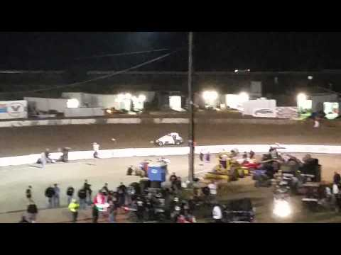Super Rickie Gaunt takes the checker flag!