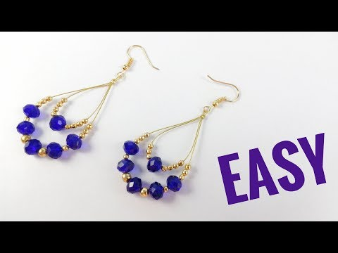 Earrings Tutorial For Beginners | Jewellery Making Step By Step Instructions | Beaded Earring