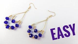 Earrings Tutorial For Beginners | Jewellery Making Step By Step Instructions | Beaded Earring