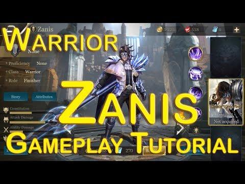 Zanis Gameplay Hero Tutorial Garena Aov Arena Of Valor