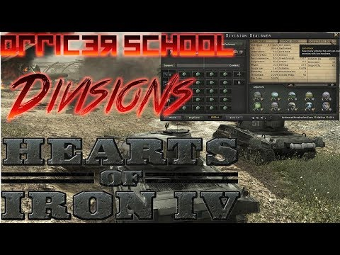 Hearts of Iron 4 Officer School 4 - Designing a Division (Best Division Templates)
