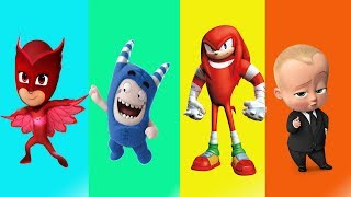 Wrong Heads Oddbods PJ Masks Sonic The Boss Baby Video For Kids