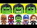I'm not afraid of dinosaurs! Marvel Mighty Muggs Hulk, Spider Man, Captain America! - DuDuPopTOY