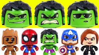 I'm not afraid of dinosaurs! Marvel Mighty Muggs Hulk, Spider Man, Captain America! - DuDuPopTOY