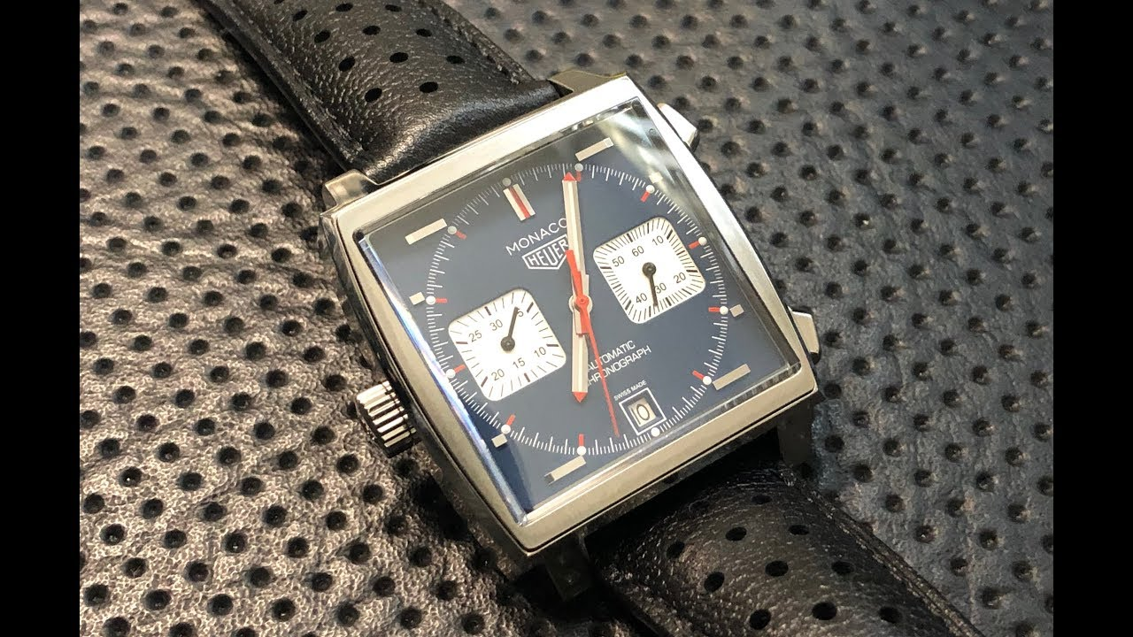 56df85d76016f The TAG Heuer Monaco Wristwatch  A Quick Shabazz Review - YouTube
