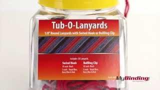 Tub-o-lanyards With Nps Swivel Hooks And Bulldog Clips
