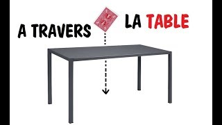 LA CARTE A TRAVERS LA TABLE ! (Explications)