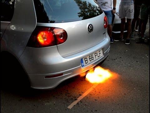 Insane POPS U0026 BANGS U0026 BACKFIRE | Volkwagen Golfu0027s Gone WILD!