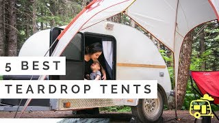 5 BEST Teardrop Camper Tents (How we stay dry in ALASKA!)