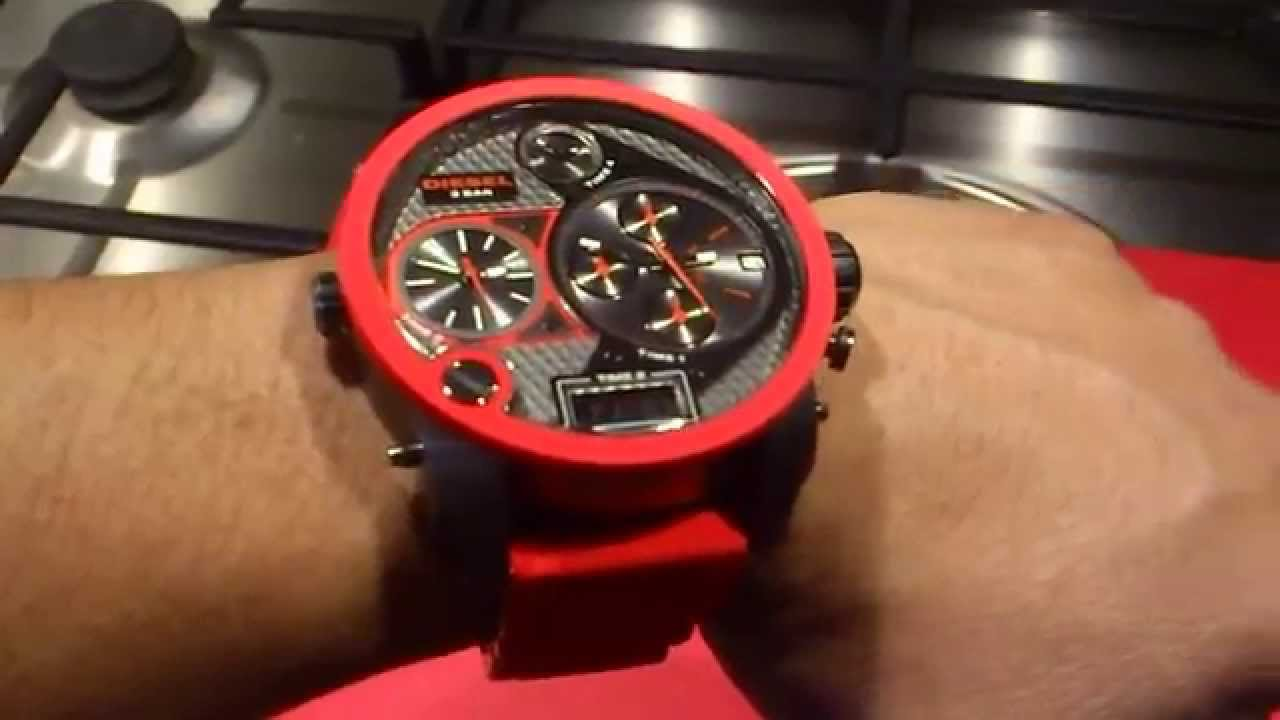 3700c2f5a54d Diesel Mr Daddy Red Watch DZ7279 - YouTube