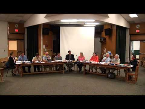 Board of Education Meeting at Housatonic Valley Regional High School - September 8, 2014