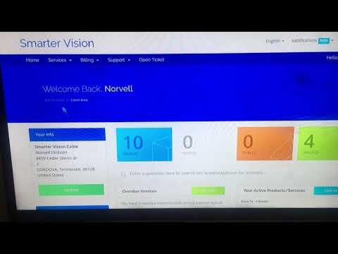Billing Website SmarterVision Extra Tv