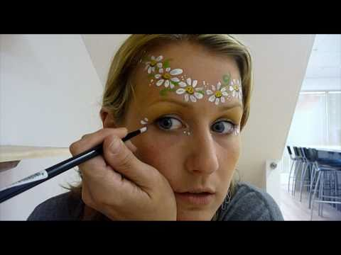 Hippy Chick - Very Simple Face Painting Tutorial How to