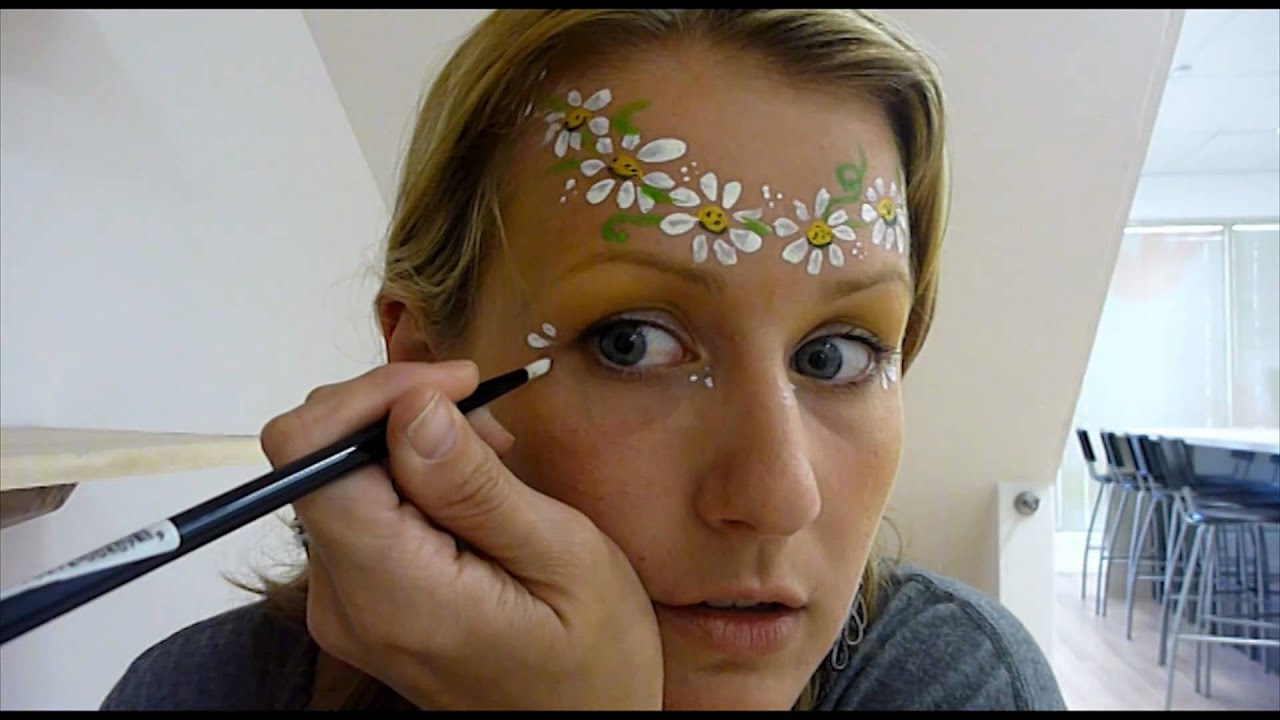 Hippy Chick - Very Simple Face Painting Tutorial How to ...
