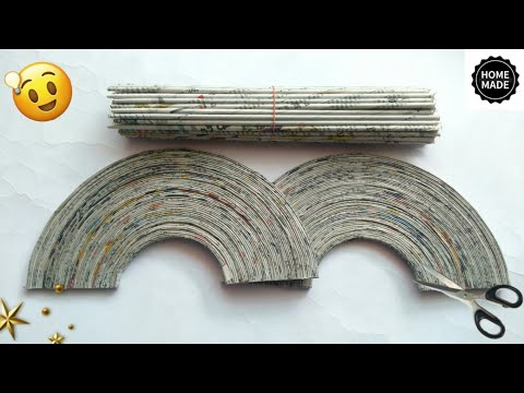 Newspaper craft   best out of waste craft idea   recycle newspaper   #HMA463