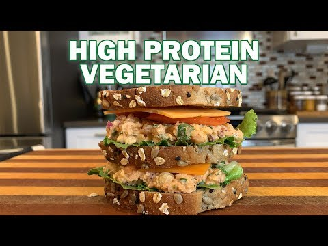 High Protein Vegetarian Meal | Chickpea Salad Sandwich