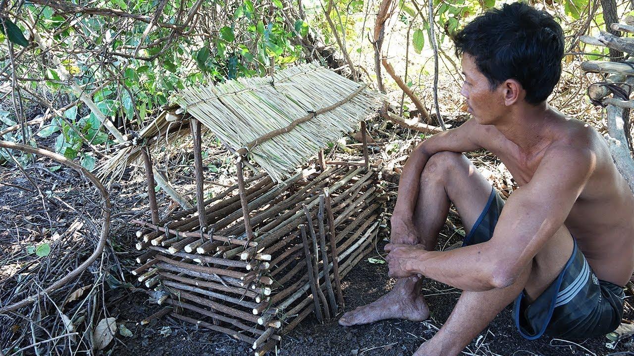 Primitive Culture Quail House Survival Life In Jungle Part 01