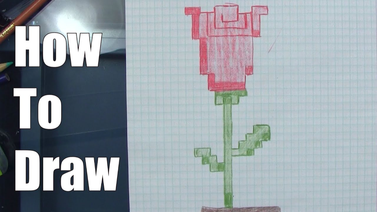 How To Draw An 8bit Rose