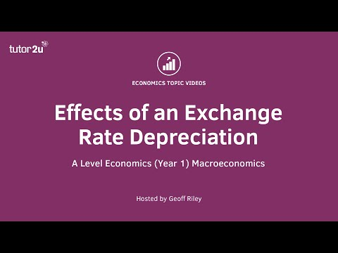 Effects of a Currency Depreciation