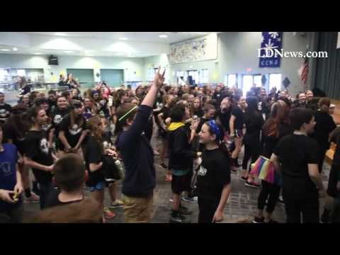 #CedarCrest Middle School hosts their mini-Thon raising money for #fourdiamonds.