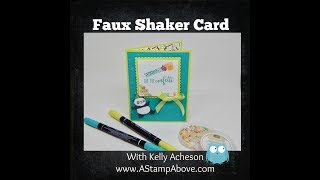 Faux Shaker Card - Party Pandas