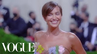 Behind Irina Shayk's 'Naked Dress' Met Gala Look | Vogue