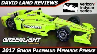 2017 Simon Pagenaud Menards Penske Chevy IndyCar HD Diecast Review [Greenlight 1/18] thumbnail