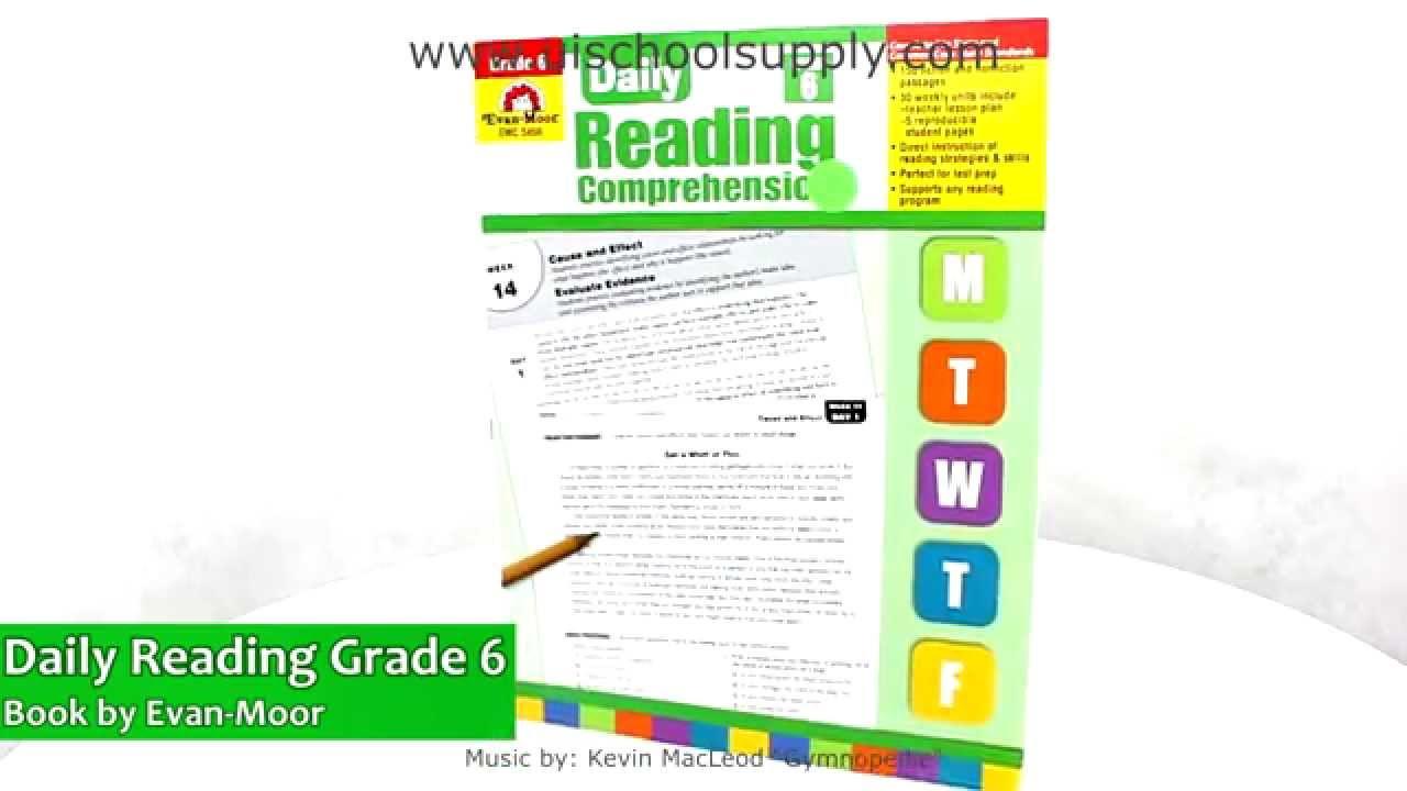 Daily Reading Comprehension Grade 6 Book by Evan-Moor EMC3456