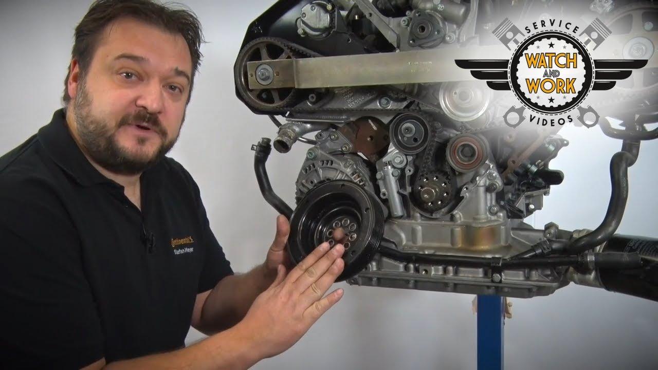 Zahnriehmen Wechsel Nockenwelle Kurbelwelle Arretieren Motor VW ...