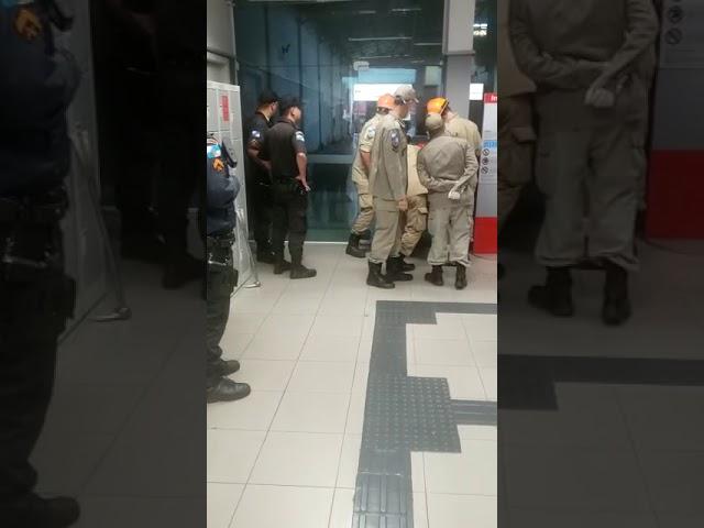 Suspeito de furto é preso em estacionamento de agência
