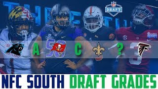 2018 NFL Draft Grades NFC SOUTH Saints Falcons Panthers Buccaneers (NFL DRAFT WINNERS)
