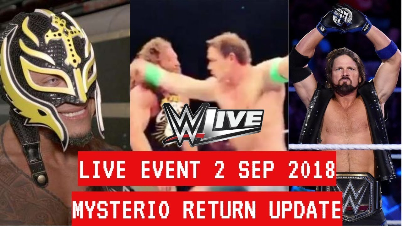 WWE LIVE EVENT CHINA 1 SEPTEMBER 2018 JOHN CENA - WWE LIVE EVENT CLEVELAND 2 SEPTEMBER 2018