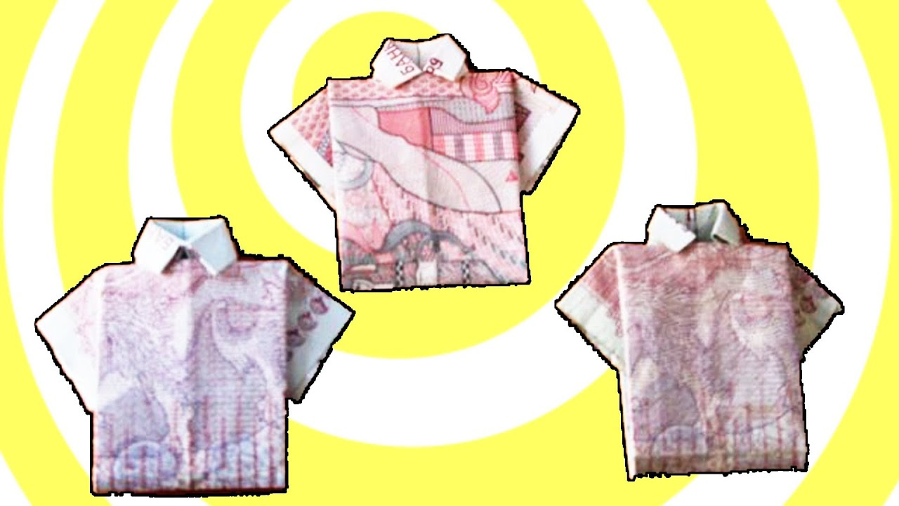 How to make money origami t shirt youtube for How to make a shirt with money