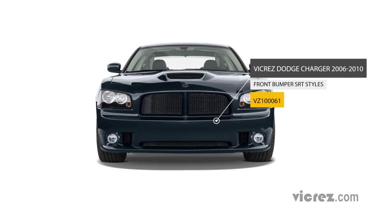 Vicrez Dodge Charger 2006 2010 Srt Style Polyurethane Front Bumper