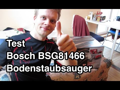 test bosch bsg81466 bodenstaubsauger staubsauger test youtube. Black Bedroom Furniture Sets. Home Design Ideas